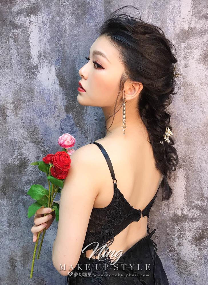 【新秘羽寧】新娘造型創作 / 唯美後編髮造型
