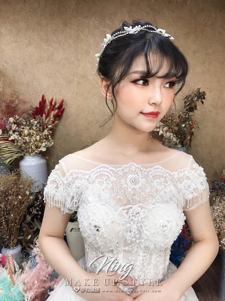 【新秘羽寧】新娘造型創作 / 甜美盤髮造型