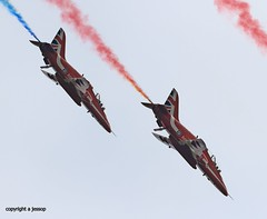 Red Arrows  J78A0744 (M0JRA) Tags: red arrows duxford airshow vintage aircraft planes warbirds people sky clouds jets airfields props otts raf airforce flying helicopters legends