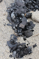 Burned Paper (Couch&Canvas) Tags: texture stock resource sand black burnt burned paper words news bonfire ash charcoal cinder torn scrap