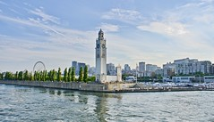 The lovely city of Montreal (somabiswas) Tags: montreal canada clock tower stlawrence river travel cityscape