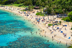 Hanauma (Jeremy Royall) Tags: oahu hi hawaii hanauma bay snorkling beach ocean emerald blue people