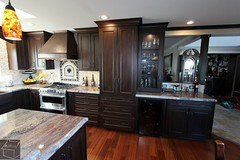These Traditional Kitchen Remodel with Custom Aplus dark cabinets, custom Island Stainless steel Thermador Appliances & wood floor in Laguna Niguel, OC https://www.aplushomeimprovements.com/portfolio_page/laguna_niguel_orange_county_kitchen-remodel93/ (Aplus Interior Design & Remodeling) Tags: kitchenremodel kitchen kitchenrenovation kitchencabinets kitchenandbath orangecounty oc orange