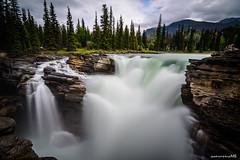Athabasca Falls - Jasper National Park, AB (achinthaMB) Tags: jaspernationalpark jasper alberta canada waterfall athabascafalls athabasca rockies canonrebelt2i highway93 icefieldparkway