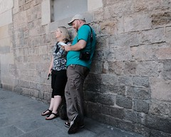Up Against It (Bury Gardener) Tags: barcelona spain europe catalonia 2019 fuji fujixt3 fujifilm streetphotography street streetcandids snaps strangers candid candids people peoplewatching folks