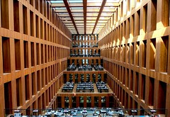 Jacob-und-Wilhelm-Grimm-Zentrum (Douguerreotype) Tags: berlin city library deutschland geometry buildings people urban architecture symmetry geometric germany