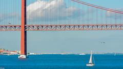 ... I am sailing ... (wolli s) Tags: lisbon lissabon pt ponte25deabril sailing tajo tejo bridge portugal regiãodelisboa nikon d7100 lisboa explore explored