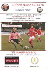 Charlton Athletic v Enfield Town (Charlton Athletic Programmes) Tags: charlton charltonathletic enfieldtown enfield ladies women womenscup isthmian league womens cup 1718
