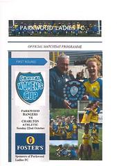 Parkwood Rangers v Charlton Athletic (Charlton Athletic Programmes) Tags: parkwood parkwoodrangers charltonathletic charlton ladies women womenscup capitalwomenscup 1718