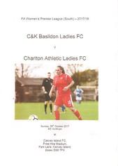 C&K Basildon v Charlton Athletic (Charlton Athletic Programmes) Tags: ckbasildon basildon charltonathletic charlton ladies women 1718