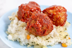 Meatballs with Tomato Sauce on the Risotto (wuestenigel) Tags: meatball sauce recipe ball dish background meat red italian homemade cooked meal mince traditional basil tomato closeup minced plate healthy tasty delicious food white pork dinner cuisine appetizer lunch snack green beef diet rustic wooden abendessen rice reis mittagessen köstlich noperson keineperson rindfleisch schweinefleisch traditionell nutrition ernährung lebensmittel fleisch gericht ready bereit cooking kochen mahlzeit chicken hähnchen parsley petersilie sose teller pepper pfeffer