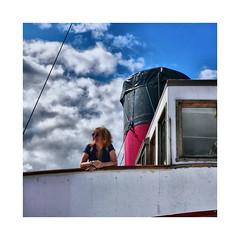 Captain for the day ! (CJS*64) Tags: scotland colour colours squareformat square squares travel travelling travelphotography lochlomond ship captain sky ballock cjs64 craigsunter craig maidoftheloch panasonic lx100 panasoniclx100
