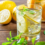 Lemon cocktail with juice, mint and ice thumbnail