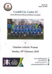 Cardiff City v Charlton Athletic (Charlton Athletic Programmes) Tags: cardiff cardiffcity charltonathletic charlton ladies women womenscup womenfacup ssefawomenscup 1718