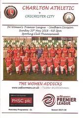 Charlton Athletic v Chichester City (Charlton Athletic Programmes) Tags: charlton charltonathletic chichestercity chichester ladies women 1718