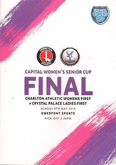 Charlton Athletic v Crystal Palace (Charlton Athletic Programmes) Tags: charlton charltonathletic crystalpalace palace ladies women womenscup capitalwomensseniorcup final 1718 programme