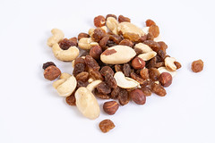 Energy mix with raisins hazelnuts cashew and brazilian nuts above white background (wuestenigel) Tags: eco natural vintage brown background snack mix vegetarian assortment protein view group walnut closeup dried selection vegan healthy pinenut tasty pistachios hazelnut food cashew ingredient above raisin nut pecan candiedfruit heap raw fruit diet almond noperson keineperson dry trocken nutrition ernährung nuss health gesundheit ingredients zutaten peanut erdnuss lebensmittel mandel seed samen delicious köstlich hazelnuttree haselnussbaum pile haufen nussbaum whole ganze taste geschmack cereal müsli diät many viele desktop