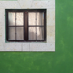 (msdonnalee) Tags: photosfromsanmigueldeallende window ventana janela fenster finestra fenêtre méxico greenwall squareformat curtain cortina geometry