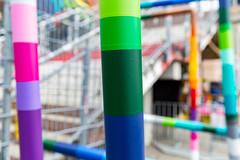 northern poles I (Rasande Tyskar) Tags: hamburg millerntor pole poles bunt colourful color colour gerüst stange stangen