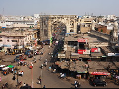 Hyderabad - View from Charminar (sharko333) Tags: travel reise voyage asien asia indien india hyderabad charminar street people olympus em1