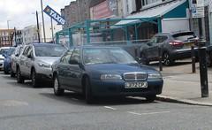 1993 Rover 620 GSi (occama) Tags: l272cpj 1993 rover 620 gsi blue old british car cornwall uk bangernomics