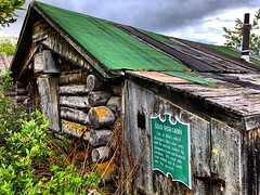 Relic (Pennan_Brae) Tags: weathered logs wood yesteryear past architecture goldrush relic vintage logcabin
