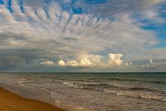 Le bon air... (J&S.) Tags: france charentemaritime ilederé boisplage océan nuage plage eau vague mer repos détente