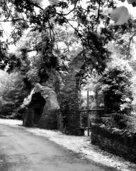 Gothic folly Heywood~ explored (Wendy:) Tags: lutyens heywoodgardens ir nik coloreffects opw mono gothic folly explored