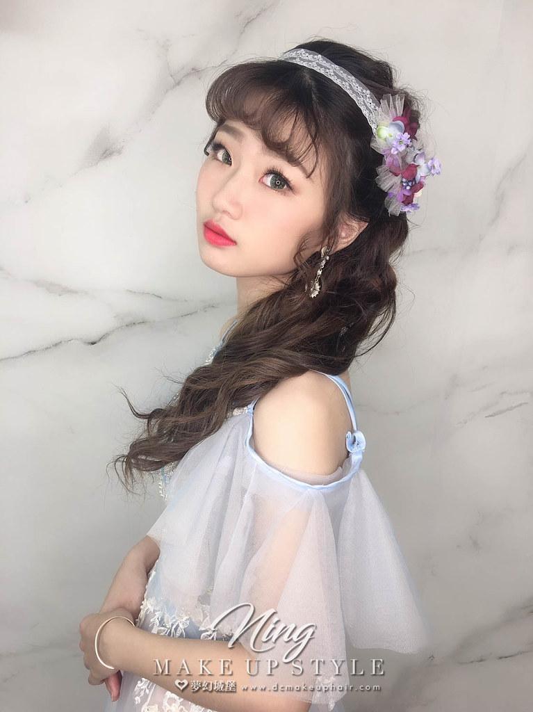【新秘羽寧】新娘造型創作 / 短髮-側編髮造型