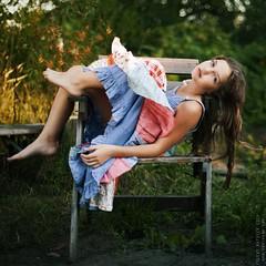 Marina. (matveev.photo) Tags: girl light sunlight legs young teenage wind dress face squareformat portrait people hair hands child summer sun square teen matveev art