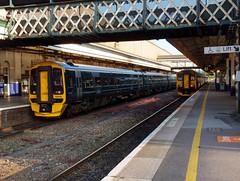 158958 & 150219 Exeter Sr Davids (Marky7890) Tags: gwr 150219 class150 sprinter 2t27 exeterstdavids railway devon devonmainline train 158958 class158 expresssprinter 2f53