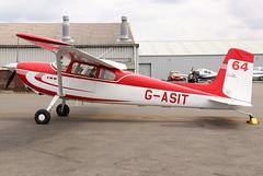 G-ASIT (GH@BHD) Tags: gasit cessna cessna180 turwestonairfield turweston aircraft aviation