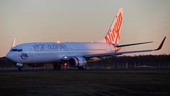 Virgin Australia taxing for take off on runway 36, Sydney bound (Asher Rundell) Tags: spotting planespotting aviation plane photo photography