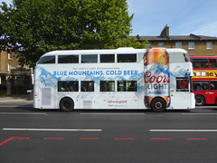 GAL LT289 - LTZ1289 - OS - NEW CROSS ROAD - WED 17TH JULY 2019 (Bexleybus) Tags: goahead go ahead london wrightbus nbfl new routemaster boris bus borismaster lt289 ltz1289 all over advert ad add coors light beer lager cross road garage gate tfl route 453 hybrid