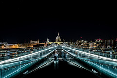 The bridge of ghosts (Paul wrights reserved) Tags: streetphotography stpauls cathedral stpaulscathedral london lon londonstreets night nightphotography nighttime nightscape ghost ghosts fencedfriday