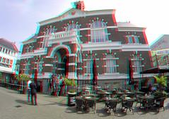 Stadhuis Apeldoorn 3D GoPro (wim hoppenbrouwers) Tags: stadhuis apeldoorn 3d gopro anaglyph stereo redcyan 200mmbasis
