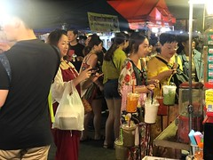 night market impressions (ChalidaTour) Tags: thailand thai asia asian night market people portrait chinese street vendor picture shop crowd food drink light