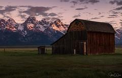 Thomas Murphy Barn – Mormon Row Grand Teton National Park (John Clay173) Tags: sunrise gtnp mormonrow mountains jacksonhole grandtetonnationalpark june jclay wyoming