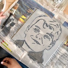 2 hours (Peter Van Lancker) Tags: portret schilderen paintin broederij gent project zelfbeeld acryl