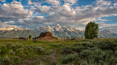 John Moulton Barn (RkyMtnGrl) Tags: landscape nature scenery barn corral mountains clouds valley antelopeflats johnmoultonbarn mormonrow gtnp grandtetonnationalpark wyoming 2019 summer july
