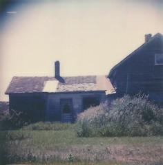 """Old Farmhouse (dreamscapesxx) Tags: instant polaroid snapitseeit polavoid """"polaroidslr680"""" """"polaroidoriginals600film"""" farmhouse inthecountry michigan"""