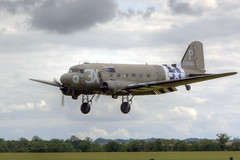 Douglas DC-3 (C-47 Skytrain/Dakota) (marktandy) Tags: douglas dc3 dakota c47 skytrain transport aircraft n473dc usaaf 1943 july 2019 duxford flyinglegends landing