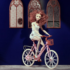 i wanna ride my bicycle (photos4dreams) Tags: dress barbie mattel doll toy photos4dreams p4d photos4dreamz barbies girl play fashion fashionistas outfit kleider mode puppenstube tabletopphotography shioban redhead siobhán ooak handmade custom fahrrad bike bicycle