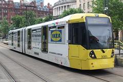 Metrolink 3081 (Mike McNiven) Tags: manchester metrolink tram metro lightrail lrv ikea ashton ashtonunderlyne piccadilly stpeterssquare eccles mediacityuk