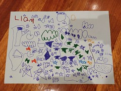 Liam's star art from kinder (avlxyz) Tags: