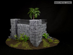 Garden Wall (whitemetalgames.com) Tags: whitemetalgames wmg white metal games painting painted paint commission commissions service services svc raleigh knightdale northcarolina north carolina nc hobby hobbyist hobbies mini miniature minis miniatures tabletop rpg roleplayinggame rng warmongers wargamer warmonger wargamers tabletopwargaming tabletoprpg jungle garden wall terrain scenery