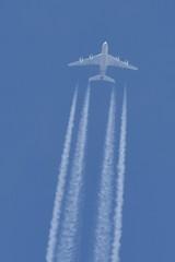 A6-APJ A380 Etihad Airways (eigjb) Tags: dublin ireland ott overflight contrail jet airliner transport aviation plane spotting aircraft aeroplane airplane 2019 flyover ey100 etihad airways airbus a380 a6apj new york jfk abu dhabi