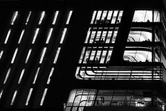 urban night (heinzkren) Tags: schwarzweis blackandwhite noiretblanc biancoetnero monochrome urban building gebäude architecture architektur vienna wien austria sony silhouette light contemporary modern people night