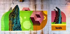 Lizard Head and Tail (Atelier Teee) Tags: terencefaircloth atelierteee mural streetart chicago illinois lizard birdo jerryrugg