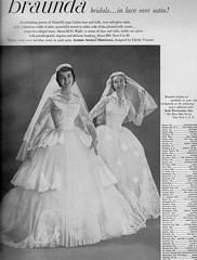 Braunda Bridals 1955 (barbiescanner) Tags: vintage retro fashion vintagefashion 50s 50sfashions 1950s 1950sfashions 1955 braundabridals vintageadvertising vintagebrides vintageweddingdresses